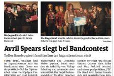 2015-16 Schüler/innen der HLW Landeck organisierten einen Bandwettbewerb in Imst