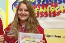 2014-15 Carolin Siegele errang die Bronzemedaille beim Fremdsprachen-Wettbewerb