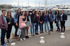2017-18 Die Cote d'azur war Ziel einer HLW-Sprachenreise