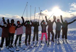2018-19 Eine sportliche Woche für die 2. Klassen der HLW Landeck in Fiss