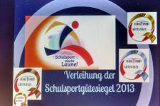 2013-14 Das Sportgütesiegel für die HAK/HLW Landeck verliehen