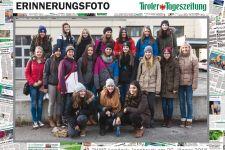2014-15 Exkursion der 2. HLW zur Tiroler Tageszeitung und in das Landestheater
