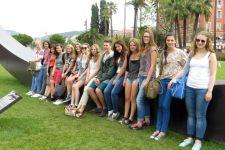 2014-15 Die 3. Klasse der HLW auf Sprachwoche in Frankreich
