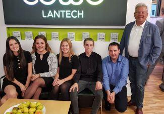 2018-19 Eine Schülergruppe der HLW Landeck organisierte die CoWo-Lantech-Eröffnung
